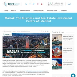 Maslak: The Business and Real Estate Investment Centre of Istanbul