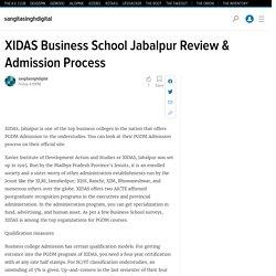 XIDAS Business School Jabalpur Review & Admission Process