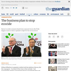 The business plan to stop ecocide