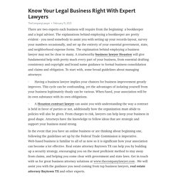 Know Your Legal Business Right With Expert Lawyers – Telegraph