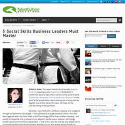 5 Social Skills Business Leaders Must Master
