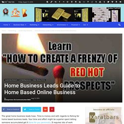 Home Business Leads Guide to Home Based Online Business