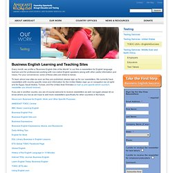 Business English Learning and Teaching Sites