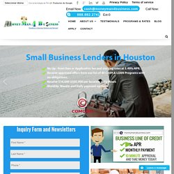 Your Small Business Lenders in Houston, TX, Startup Business Loans