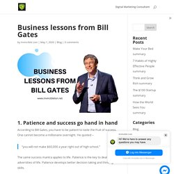 Business lessons from Bill Gates - Invincible Lion