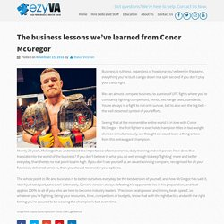 The business lessons we've learned from Conor McGregor