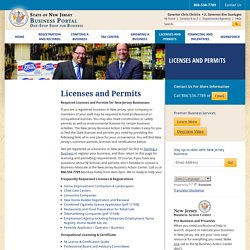 NJ Business Licenses and Permits