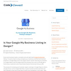 Is Your Google My Business Listing in Danger? - Code Connect