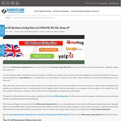 UK Business Listing Sites List With PR, PA, DA, Alexa, IP