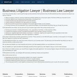Business Litigation Lawyer, Business Lawyers & Attorneys US