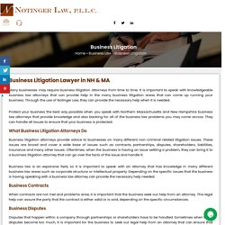 Business Litigation Lawyer in NH & MA