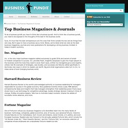 The Best Business Magazines & Top Business Journals