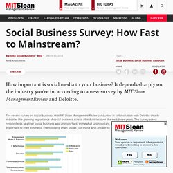 Social Business Survey: How Fast to Mainstream?