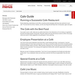 Cafe Business, How to Manage a Cafe - MustHaveMenus