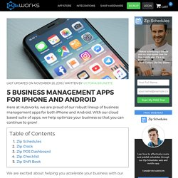5 Business Management Apps for iPhone and Android