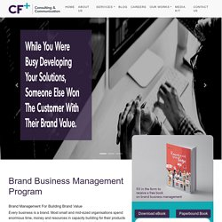 Brand Business Management Program