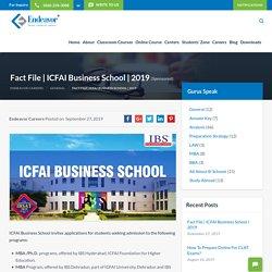 ICFAI Business School Management Program
