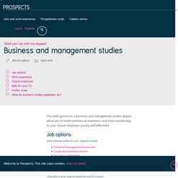 What can I do with a business and management studies degree?