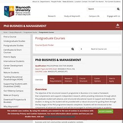 PhD BUSINESS & MANAGEMENT