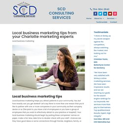 Local business marketing tips from your Charlotte NC experts