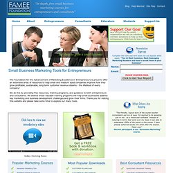Small Business Marketing Programs - Free Courses - The FAMEE Foundation