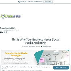 This Is Why Your Business Needs Social Media Marketing – FoundLocals LLC
