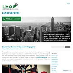 Elevate Your Business Using a Marketing Agency