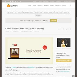 Create Free Business Videos for Marketing