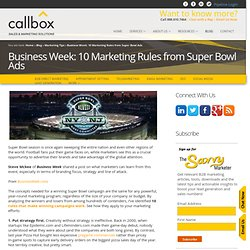 Business Week: 10 Marketing Rules from Super Bowl Ads