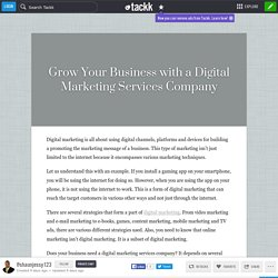 Grow Your Business with a Digital Marketing Services Company