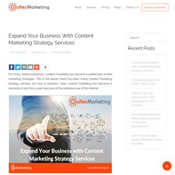 Expand Your business with Content Marketing Strategy Services