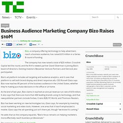 Business Audience Marketing Company Bizo Raises $10M