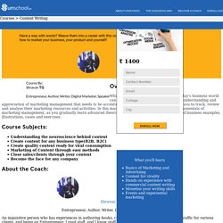 Business & Marketing Course - Content Writing Courses India