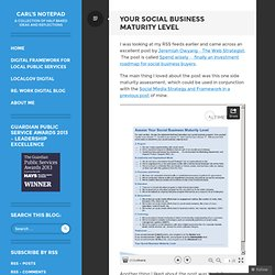 Your Social Business Maturity Level