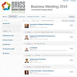 BRICS Business Meeting 2014