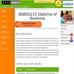 Diploma of Business, Business Courses Melbourne & Brisbane Australia