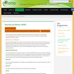 Business As Mission (BAM) - CMS Africa