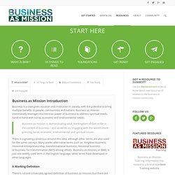 How to Get Started Business as Mission