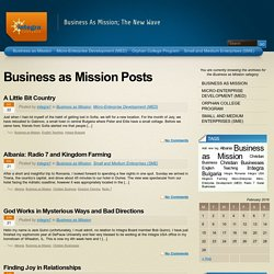 Business as Mission « Integra Ventures USA Blog