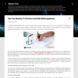 Take Your Business To The Next Level With Mobile Application