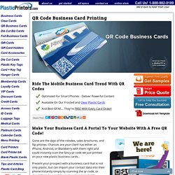 QR Code Business Cards - Free Mobile Marketing Tool