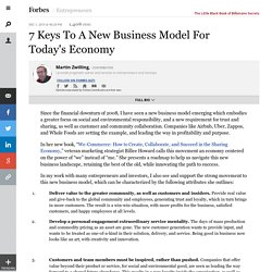7 Keys To A New Business Model For Today's Economy
