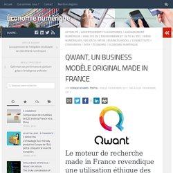 QWANT, UN BUSINESS MODÈLE ORIGINAL MADE IN FRANCE