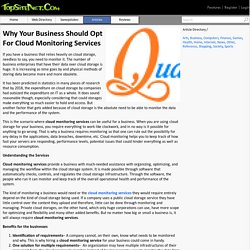 Why Your Business Should Opt For Cloud Monitoring Services