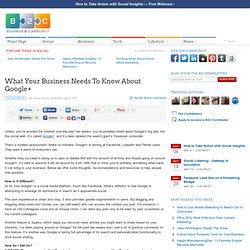 What Your Business Needs To Know About Google+