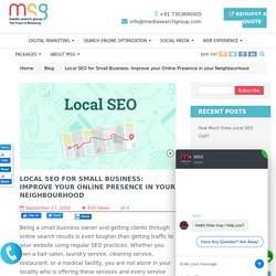Local SEO for Small Business: Improve your Online Presence in your Neighbourhood
