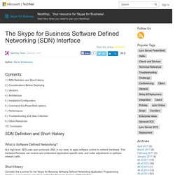 The Skype for Business Software Defined Networking (SDN) Interface – NextHop…Your resource for Skype for Business!