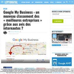 Google My Business : un nouveau classement des