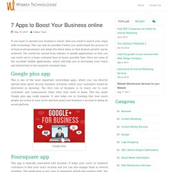 7 Apps to Boost Your Business online