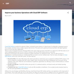 Improve your business Operations with Cloud ERP Software